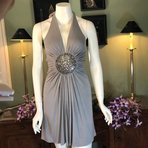 🆕BNWT-Sky halter dress rhinestone medallion waist
